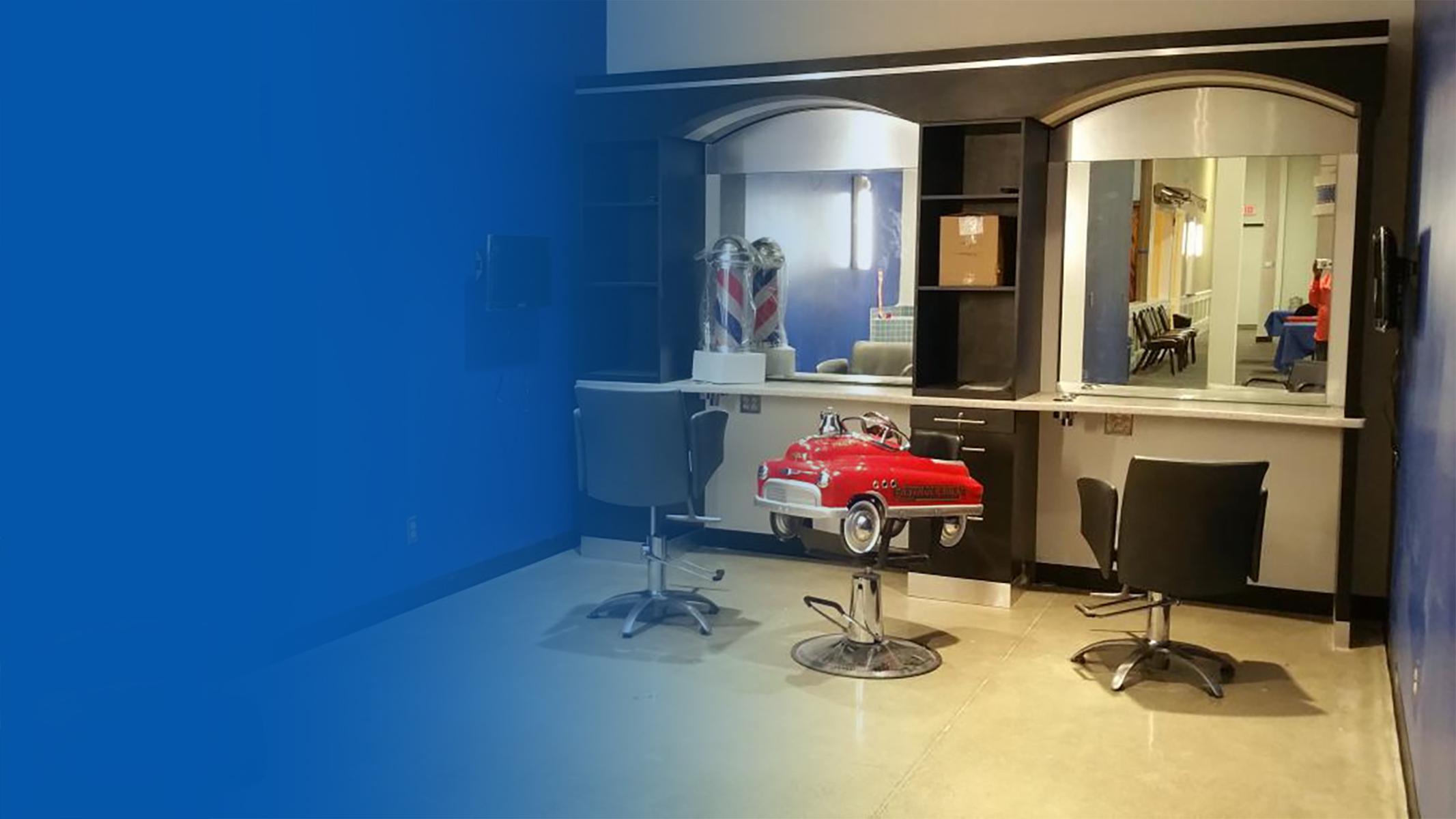 We offer kid-friendly hair cuts.Haircut Hut